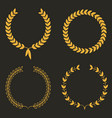 laurel wreath set of laurel wreaths vector image