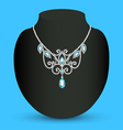 necklace with blue vector image