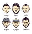 Set of modern mens hairstyles vector image