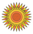 stylized sun disk with sharp rays vector image