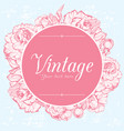 Vintage card with peonies vector image