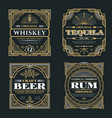 vintage whiskey and alcoholic beverages vector image