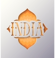 with the word India vector image