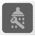 Shower Plumbing Rounded Square Button vector image