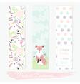 Printable bookmarks with flowers fox vector image