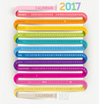 calendar 2017 print template design ribbon style vector image vector image