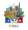 concept of travel or studying french vector image
