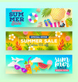 set of summer sale banners vector image vector image