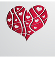 Abstract background with red strip heart vector image vector image