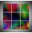 set of colorful dotted backgrounds vector image