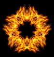 Star flame vector image vector image
