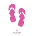pink abstract flowers texture flip flops vector image