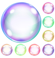 Opaque soap bubbles vector image vector image