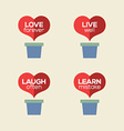 Love Live Laugh Learn Heart Plants vector image