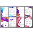 set of flyers brochures abstract design 2 vector image