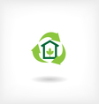 Icon eco home garbage recycling vector image vector image