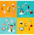 Biotechnology Banners Set vector image vector image