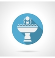 Refreshing fountain blue round icon vector image