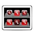 Add red app icons vector image