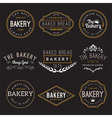 Bakery Badge Design Elements vector image