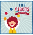 Clown icon Circus and Carnival design vector image