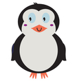 Cute beautiful Penguin isolated on white vector image
