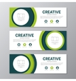 Green corporate business banner template vector image