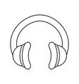 music headphones technology vector image