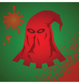 red mask vector image