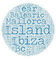 The Balearic Islands text background wordcloud vector image