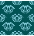 Turquoise blue damask style seamless pattern vector image
