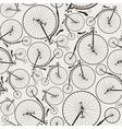 vintage bicycle seamless vector image