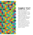 Colorful puzzle frame vector image