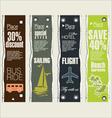 Travel banner set vector image