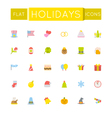 Flat Holidays Icons vector image