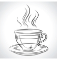 Cup mug of hot drink coffee tea etc vector image vector image