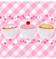 Cupcakes Background vector image vector image