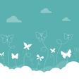 Butterflies Sky vector image