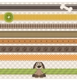Collection of cute ribbons with cartoon dog vector image