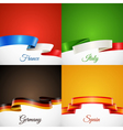 Flag Design Ribbon Concept Icons Set vector image