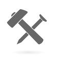 hammer nail icon vector image