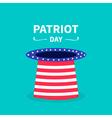 hat text patriot day vector image