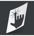 Monochrome hand cursor sticker vector image