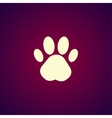Paw Print Flat design style vector image