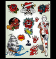 set of tattoos vector image
