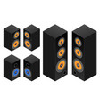 set of the audio speakers vector image