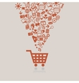 Shopping cart concept vector image