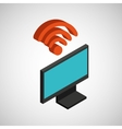 tv plasma wifi internet design vector image