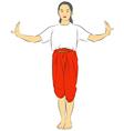 Thai national Dances vector image