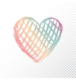 heart with gradient color vector image